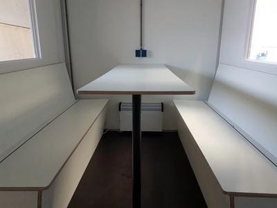 PPL Wit  tafel en banken, 180cm