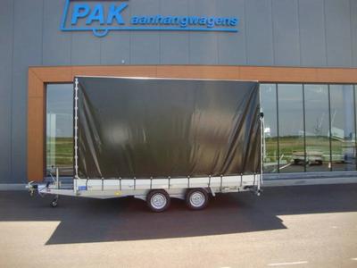 Proline huif met zeil - grijs - 190 cm hoog (binnenwerks)