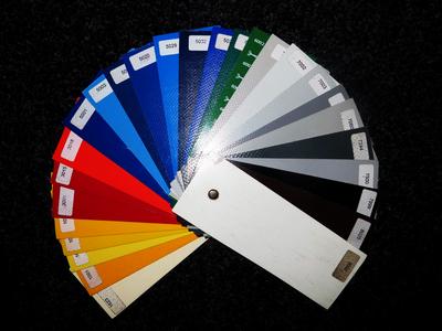 Andere kleur huifzeil of vlakzeil (zie staal)